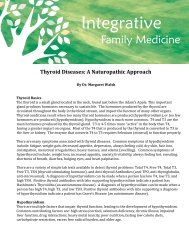 Thyroid Diseases- A Naturopathic Approach - Dr. Margaret Walsh