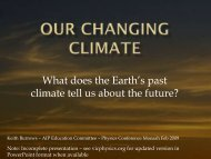 Our Changing Climate - Vicphysics