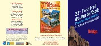 PROGRAMME BRIDGE2007.qxd - Festivals du Soleil