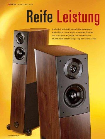 Testbericht Deutsch und Englisch PDF 690 KB - Audio Physic