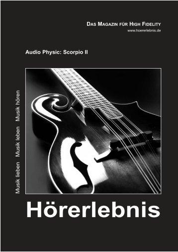 Musik lieben Musik leben Musik hören Audio Physic: Scorpio II