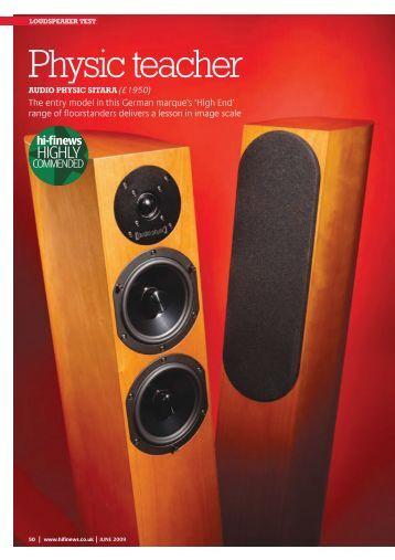 Sitara :: hifinews :: 07/2009 - Audio Physic