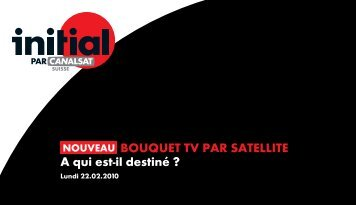 Lancement d'Initial par Canalsat