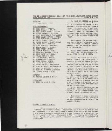 1989-02-23 Acta-O.pdf - Arxiu Municipal de Terrassa - Ajuntament ...