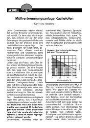 Müllverbrennungsanlage Kachelofen - BI UMWELT Bad Wörishofen ...