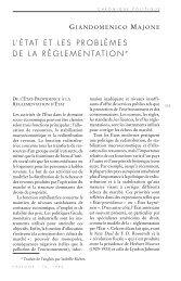 L'ÉTAT ET LES PROBLÈMES DE LA RÉGLEMENTATION * - Pouvoirs
