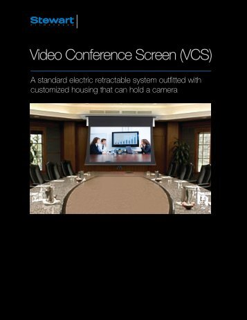 Video Conference Screen (VCS) - Tecco