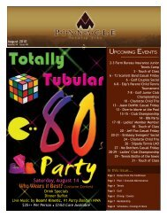 Upcoming Events - Pinnacle Country Club
