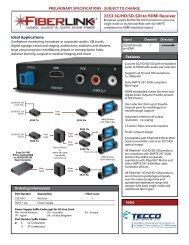 3353 3G/HD/SD-SDI to HDMI Receiver - Tecco
