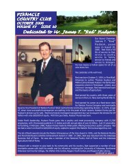 OCTOBER 2006 NEWSLETTER.pmd - Pinnacle Country Club