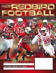 Illinois State Football Game Program - School of Communication