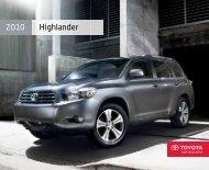 2010 Highlander Brochure [PDF] - toyotatrucks.ca