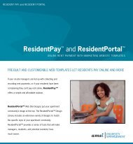 "ResidentPayâ""¢ and ResidentPortalâ""¢ - Amsi.com"