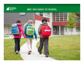 MEC 2013 BACK TO SCHOOL - (MEC) | Media Room