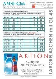 Laborflaschen aus Borosilikatglas 3.3 - AMSI Glas AG, Glasapparate  ...