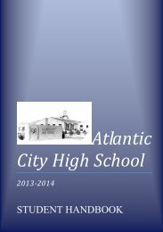 ACHS Student Handbook - Atlantic City High School - Acboe.org