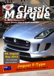 Sample CM Pages for Peter - Jaguar Drivers Club of South Australia