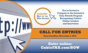 Brochure and Entry Form - CableFax
