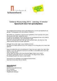 Gelderse Museumdag 2013 - zaterdag 19 oktober ... - MijnGelderland