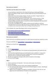 1 Hoe maak je een website? Tips &trucs voor het ... - MijnGelderland