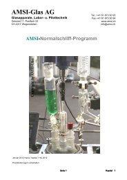 AMSI-Glas AG Glasapparate, Labor- und Pilottechnik