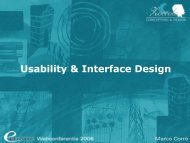 Usability & Interface Design - Eduvision