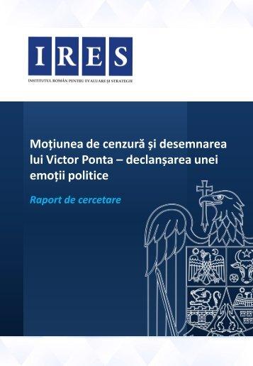 Moțiunea de cenzură și desemnarea lui Victor Ponta ... - CityNews