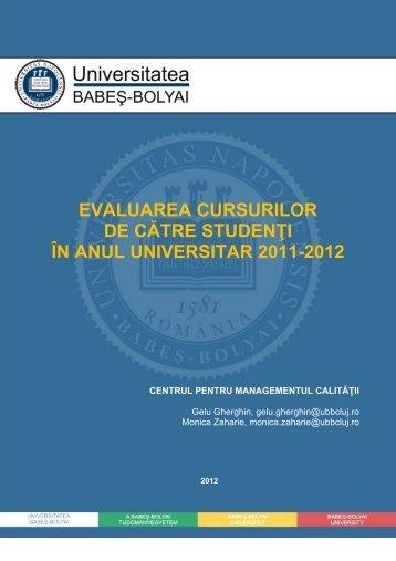 Citeşte aici raportul pe anul universitar 2011-2012 şi ... - CityNews