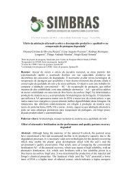 Efeito da adubação alternativa sobre o desempenho produtivo e ...