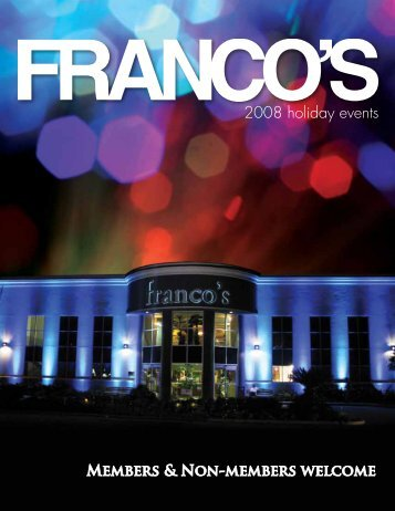 2008 holiday events - Franco's Athletic Club