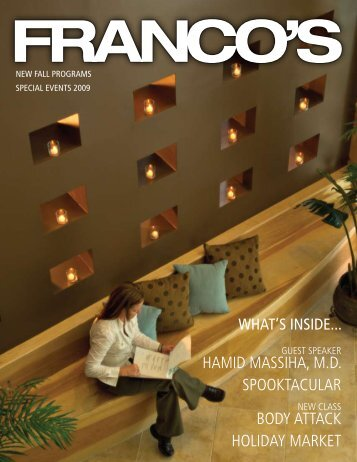 Franco's Holiday 2009 Newsletter - Franco's Athletic Club