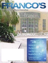 Franco's November 2011 Newsletter - Franco's Athletic Club