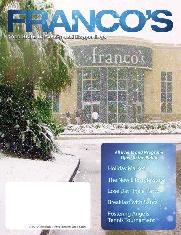 Franco's November 2011 Newsletter - Franco's Athletic Club