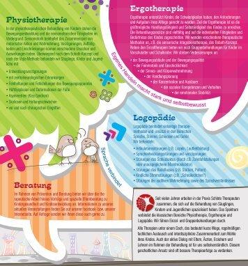 Physiotherapie Ergotherapie Beratung Logopadie - Praxis Schlote