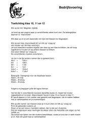 Bedrijfsvoering - Rudolf Steiner College Rotterdam