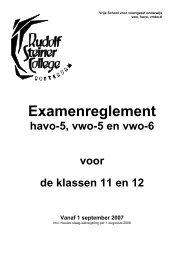Examenreglement - Rudolf Steiner College Rotterdam