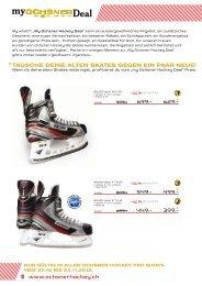 tausche deine alten skates gegen ein paar neue! - Ochsner Hockey