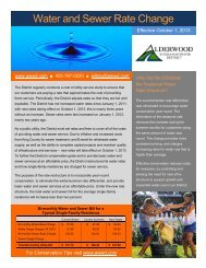 Water and Sewer Rate Change - Alderwood Water & Wastewater ...