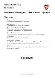 1. Firmencup 2009 Spielregeln - FC Solothurn