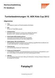 Turnierbestimmungen 6 - FC Solothurn