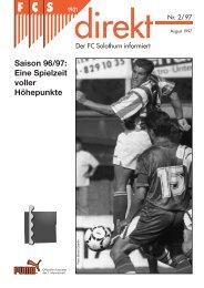 Saison 96/97: Eine Spielzeit voller Höhepunkte - FC Solothurn