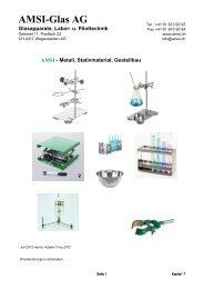 u. Pilottechnik - AMSI Glas AG, Glasapparate, Labor