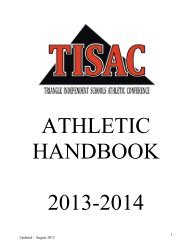 TISAC Handbook - Ravenscroft School