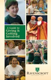 Giving & Getting Involved - Ravenscroft School