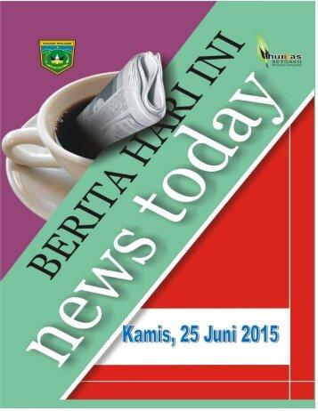 Kliping Berita Hari Kamis Tanggal 25 Juni 2015
