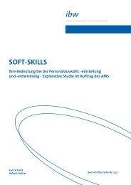 SOFT-SKILLS Ihre Bedeutung bei der Personalauswahl - ibw