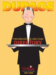 Membership Services Directory - DuPage County