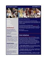 SEPTEMBER 1, 2011 nEWSlETTER - New England Crusaders