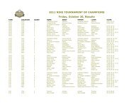 2011 NIKE TOURNAMENT OF CHAMPIONS Friday, October 20 ...