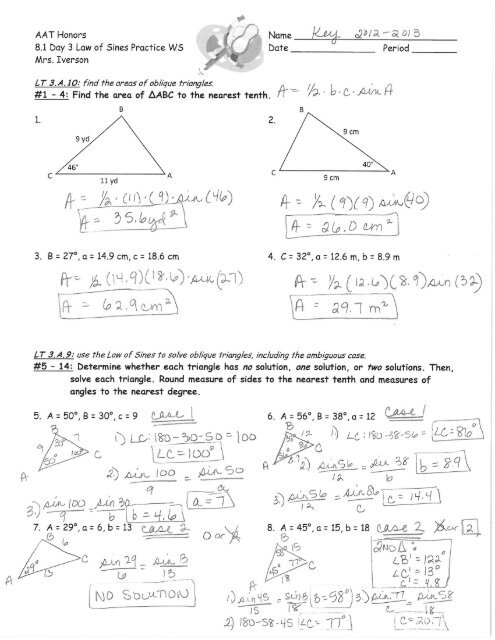 8.1 Day 3 Law of Sines Practice WS Answer Key 2012-2013.pdf